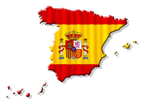 Spain Shape Flag