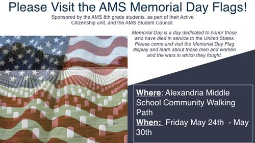 Visit the AMS Memorial Day Flag Memorial
