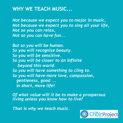 Why We Teach Music...