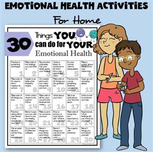 Emotional Health Activities for Home
